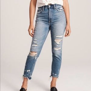 Abercrombie High Rise Mom Jean